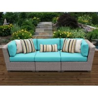 Is your outdoor ensemble in need of an update? T his patio sofa is a great anchor for any seating patio or deck arrangement! Crafted with an aluminum frame, this piece features a woven resin wicker exterior that makes it resistant to weather, water, and UV rays – so it's perfect for standing up to the elements. Plus, it comes with included all-weather acrylic cushions for an inviting feel while you soak up the sun.