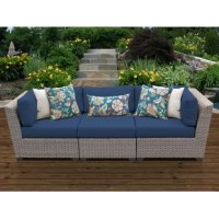 Perfect for anchoring an outdoor seating ensemble, this modular sofa is just the thing to help you and your family soak up the sun. Crafted with an aluminum frame, this piece is wrapped in UV- and rust-resistant resin wicker for a breezy look that also helps it stand up to occasional bad weather. Plus, this piece includes foam-filled seat and back cushions with removable covers to help soften your seat while you enjoy the outdoors.