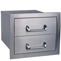 These Double Drop-In Drawer can make your dream barbeque island to come to life. The sturdy stainless steel is constructed for lasting durability and adds convenient storage into any outdoor kitchen for a professional look. This stylish accessory is sure to please.