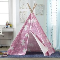 Allow your child's imagination to run free in their new home away from home. The indoor children's teepees will keep your kids entertained for long periods of time and will avoid the mess of having them build their own fort. These teepees are very well crafted. Made of eucalyptus hard wood and complete with a cotton canvas, which includes a 3-flap front opening, they are perfect for a bedroom, living room or playroom.