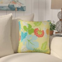 Display the an elegant and bright throw pillow in your living space with this accent pillow. This square pillow features floral patterns. This pillow lends a fun and refreshing vibe to your interiors. This decor pillow is an ideal outdoor pillow which is made of weather proof materials.