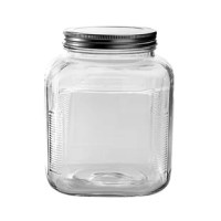 The jar's thick side walls not only beautifully showcase what is being stored, but also provide durability and stability. This storage jar with lid goes with any decor whether storing pantry items, crafts, laundry detergent, or even pet treats.