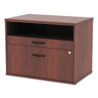 Sturdy low file cabinet is great for use for storage or as a low credenza with your desk. Great used as a return to expand your desk space to create