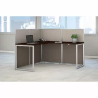 A contemporary design built with flexibility. Bush Business Furniture's Easy Office 2 Piece L-Shape Desk Office Suite offers a thermally fused laminate work surface with superior resistance to scratches and stains. The L Shaped Desk provides a versatile right or left handed position for user comfort with a 36