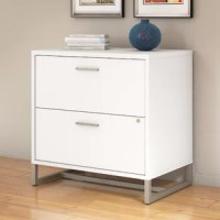 Embrace the unique styling of mid-century modern design and enjoy ample storage with the Method 2 Drawer Lateral Filing Cabinet. The 2 drawer cabinet offers a beautiful and durable metal base along with titanium finished hardware. Constructed of 100% thermally fused laminate, the filing cabinet fends off scratches and stains to maintain the attractive design. Organize your most important paperwork in the full-extension file drawers, which open effortlessly on smooth ball-bearing slides. A...