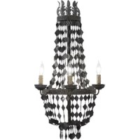 A gothic mid century inspired wall sconce that will give any empty space a luxurious romantic touch.