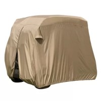 Protect your Golf Car in the off season with the Fairway Easy - On Golf Car Cover from manufacturer. With an integrated ''stuff sack,'' storing and traveling this Golf Car Cover is a cinch. The elasticized cord along the bottom hem gives the Easy - On Golf Car Cover a quick and easy custom - like fit.
