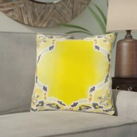 Set this silk ogee pillow on your favorite arm chair for a hint of bohemian appeal, or mix it with other cool-hued designs to give the sofa an eclectic look.