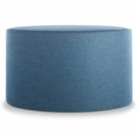 Playful geometry gets to work. Use as a side table, footstool, flexible seating, or an impromptu stage. Soft felted wool blend upholstery. Padded wood frame, 60% Wool / 40% Rayon blend upholstery.