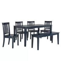 This 6 Piece Dining Set shows your individuality and inspires family and guests to gather for a meal