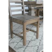 We love reclaimed wood, and we're not alone. Furniture built from upcycled wood tells a story many years in the making. The origin of each piece – from fences to factories, barns, and beyond – lives on in the tones and textures of the wood, while the emphasis on sustainability boasts ecological benefits as well. Take this dining chair, for instance: Its ladder-back design, reminiscent of Amish craftsmanship, brings clean lines to your dining area, as the reclaimed pine wood construction...