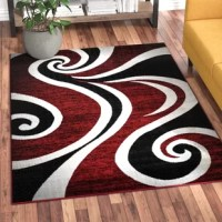 Cheap Collingwood Power Loom Red Black White Rug Furniture Online