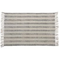 Graphics and organic, their Hand-woven Cotton Gray Area Rug is made of 100% cotton and printed in a classic block printing technique. With a neutral color palette and fashion-forward patterns, this is the piece you can build a room around.