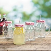 This is the first edition of a classic pairing of vintage mug is the perfect addition to any kitchen. These mason jars are perfect for any occasion especially any outdoor activity.