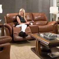Maskell Leather Reclining Loveseat