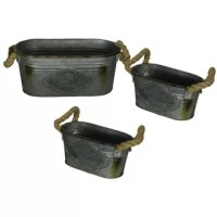 Set includes 3 rail planters