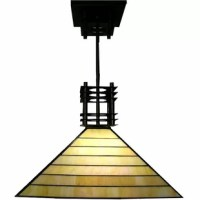 Handcrafted using the same techniques that were developed by Louis Comfort Tiffany in the early 1900s. Tiffany-style Mission hanging lamp is sure to brighten your home décor. Elegant lighting is sure to dress up any room in your home or office.