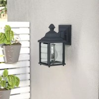 Greet your guests with a warm and welcoming glow out on the front porch or bring a bit of brightness to the backyard with this wall lantern. Constructed to stand up to the outdoor elements, it is crafted from weather-resistant steel that doesn't mind UV light or rain. What really makes it shine? The single light inside that is highlighted by clear glass panels. This traditional lantern design measures 9