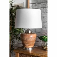Illuminate your space with a touch of contemporary style. Warm and luminous this lamp will make a refreshing and stylish addition to your space.