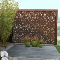 Say goodbye to stuffy picket fencing with an eye-catching piece like this! Designed to offer you privacy while complementing your space's style, this panel is crafted from composite wood with an eye-catching abstract design. This piece water- and weather-resistant, so it holds up when the weather worsens. And since it's paintable, you can even customize it to match your patio or deck's color scheme. This panel must be mounted to posts (not included).