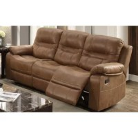 Step into the comfort you deserve with this Summerall Motion Reclining Sofa that features functional plush and breathable leatherette upholstered furnishings. Each piece includes special pillow top armrest with accent studs blending a bit of contemporary style with traditional design. Engage your senses with reclining units for added comfort and relaxation.