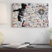 The artwork is crafted with 100-percent cotton artist-grade canvas, professionally hand-stretched and stapled over pine-wood bars in gallery wrap style - a method utilized by artists to present artwork in galleries. Fade-resistant archival inks guarantee perfect color reproduction that remains vibrant for decades even when exposed to strong light. Add brilliance in color and exceptional detail to your space with the contemporary and uncompromising style of East Urban Home. Title: Target. New...