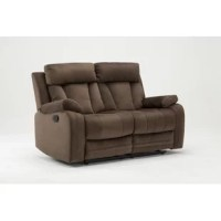 Provide ultimate comfort for your family with a beautiful touch of contemporary charm to your home. This lovely living room recliner loveseat offers the perfect balance of relaxation and comfort. This elegant loveseat features a contemporary shape with a microfiber fabric upholstery that is sure to leave a lasting impression on your home.