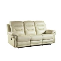 Provide ultimate comfort for your family with a beautiful touch of contemporary charm to your home. This lovely living room recliner sofa offers the perfect balance of relaxation and comfort. This elegant sofa features a contemporary shape with a leather air or matches upholstery and trendy nailhead trim that is sure to leave a lasting impression on your home. This sofa features a recliner mechanism with a manual crank and a steel base that ensure this sofa will be a staple in your home for...
