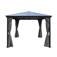 Transform your backyard, patio or garden into a place of mystery and romance with this 10 Ft. W x 10Ft. D Aluminum Patio Gazebo. Perfect for shelter against the elements while enjoying the fresh air, this piece is made from the highest quality materials and built to last for many years to come. Friends and family will thank you.