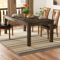 Be it a hearty Sunday morning brunch or an upscale dinner party with a few friends, this dining table is happy to be sitting at the center of it all. Founded atop four straight legs, its frame is crafted from solid Asian hardwood and measures 78.75
