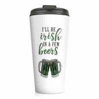 Celebrate St. Patrick's Day and your love of the Irish with this festive The Holiday Aisle Bilger 15 oz Stainless Steel Travel Mug. This Irish mug features the phrase