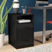 Bring order to your office with this clean-lined filing cabinet. Crafted in the USA from steel, this piece features one shelf and two full-extension file drawers that accommodate letter-sized documents so all your important papers are in one place. A neutral black finish helps it blend with any existing ensemble. This compact design is an ideal option for small studies.