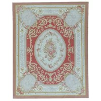 This is a beautiful Aubusson Hand-Woven Wool Brown/Red/Cream Area Rug. Its elegant style is easy to decorate with and perfect for any home.