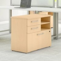 Open up your home or office storage options with the versatile 400 Series Lateral Filing Cabinet. Designed with flexibility in mind, the rugged small cabinet provides open and closed storage options for user convenience. Two box drawers keep office supplies within reach, while a lateral file drawer gliding on smooth full extension ball bearing slides houses letter or legal-sized files and locks for your security. An open storage cubby features an adjustable shelf to stack your books and...