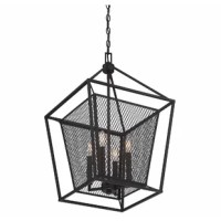 Get bold, highly textured style with this cottage 4-Light Foyer Chandeliers. It features mesh detailing and is perfect for creating a bold first impression!