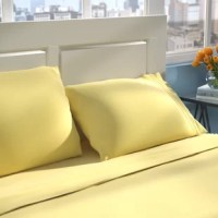 Whether you're making over your master suite or outfitting a hotel-worthy guest room, switching out the sheets is a great way to make a big impact with a small change. Crafted from 100% brushed microfiber fabric, this set is fade-, stain-, shrink-, and wrinkle-resistant. A solid hue is versatile, meaning it works well in just about any bedding ensemble. Best of all, this set can quickly and easily be cleaned with a machine wash and tumble dry.
