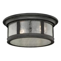 A low-key accent piece with high impact, this understated flush mount lets you light up any space with ease. Featuring a steel design awash in a brushed iron finish, this low-key flush mount makes a neutral addition to your space, while its clear seeded glass panels let its lights shine through in radiant style. Station it in the entryway to a spotlight on your space as guests come in the door, or mount it up on the bathroom ceiling to tie your spa-worthy environment together.