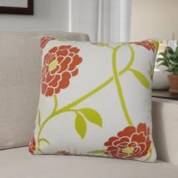 Add an organic touch to your living space with this accent pillow cover. This throw pillow cover features a foliage pattern in shades. This pillow cover makes an intricate backdrop to your outdoor space. Made with a blend of 61% polyester and 39% acrylic. Crafted in the USA.