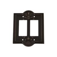 Embracing greek revival, Meadows 2-Gang Toggle Light Switch Wall Plate is appealing to a wide variety of home decor styles. The graceful, curved edges and decorative border make a bold statement.