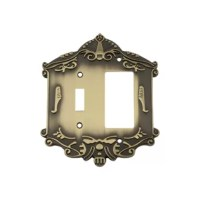 Bringing together the most intricate and exquisite of designs, Victorian 2-Gang Toggle Light Switch / Rocker Combination Wall Plate showcases an elegantly-detailed border, offering a distinct look to your home. This collection is pure old-world vogue.
