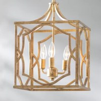 An artful blend of old-world charm and modern style, this Destrey 3-Light Lantern Square/Rectangle Pendant is equally at home in classic and contemporary arrangements. Crafted, this fixture features three lights encased within an open cube cage with geometric sides for an on-trend look. A crackled and antiqued finish brings out this piece's glamorous side, while an adjustable hanging chain lets you tailor its height to suit your space.