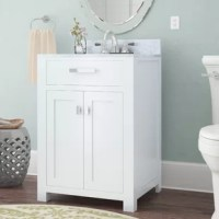 Refresh your powder room ensemble in style with this 24