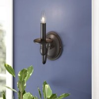 Drawing on inspiration from colonials and old world cottages, this charming wall light lends a touch of traditionalism to any abode. Constructed from iron, its frame is simplistic with a circular back plate attached to a curving arm for a splash of sophistication. Its neutral black finish is versatile enough for any area of your home, but the ambient light from its single candelabra light is best suited for the entryway or master suite.