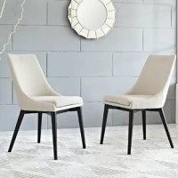 Add a simple yet stylish look to your favorite seating space with this versatile side chair, showcasing a foam-filled seat for an extra layer of comfort. Its streamlined silhouette lets you lean into any casual aesthetic, while this side chair's solid hue is a perfect fit for monochromatic or vibrant spaces. Build upon this piece's mid-century inspiration by adding it to a living room ensemble alongside a gently-tufted barrel chair and flared leg sofa for a cohesive arrangement. Anchor the...