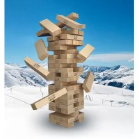 """All the fun of classic Jenga®, but giant! Get ready for bigger build-ups and bigger crashes. At setup, starts at 18"""" high and can stack to over 3 feet high in play! A premium experience whether you're at home, at the park, or at a party. A beautiful gift of lasting quality you will be proud to give."""