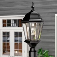 Whether its illuminating your driveway, or adding a warm touch just outside your entryway, this traditional lantern head brightens up your landscaping with ease. Crafted from metal in a neutral black hue and featuring clear beveled glass panels, it showcases that classic lantern look. It accommodates one 150 W bulb. Rated for wet locations, this luminary is perfect for installing in non-covered outdoor areas: mount it to a post of your choice, then watch it shine over your yard!