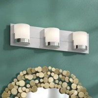 What with all the shaving, cleaning, and makeup applying, the right lighting in the bathroom is important in any home. Find the light you love with this bath bar! Awash in a metallic finish, the backplate lends an understated shine to your space, while also allowing it to work well in any contemporary setting. Three opal glass shades diffuse light from the included G9-base bulbs, while a damp location makes it ideal for your washroom.