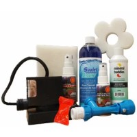 This handy deluxe kit includes all the necessities you need to drain and clean your hot tub.   SWIRLAWAY PLUMBING CLEANER:clean the impossible to reach places in your hot tub or spa in just 30 minutes! Removes dirt & grime, organic oils, soap scum, mold & mildew & other harmful contaminants that impede jet action. Use prior to draining.   MINERAL BUDDIES WATER BUDDY™:Simply connect the water buddy™ to a garden hose and fill with fresh, pure water. Designed to reduce or eliminate a...