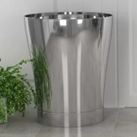 The Trash cans are sized perfectly for smaller space, but still have plenty of room for your recyclables and garbage, made of high-quality durable materials these dustbins will hold up to everyday use. These garbage bins can be used for trash recycling or storing items. The beautiful slim round design combined with the brushed pewter Finish makes them the perfect compliment to any home.