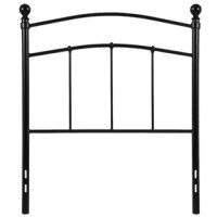 This full size headboard has the features to define a space while remaining soft on the eyes. A simple design with a touch of traditional flair provides an open and airy look to your bedroom. Vertical slats, arched upper headers and rounded posts create a beautiful mix of shapes. The convenience of a headboard only will provide you with floor space and is ideal for smaller rooms. Lack of a footboard makes tidying the bed much easier. Whether you're updating or starting new, this headboard will...